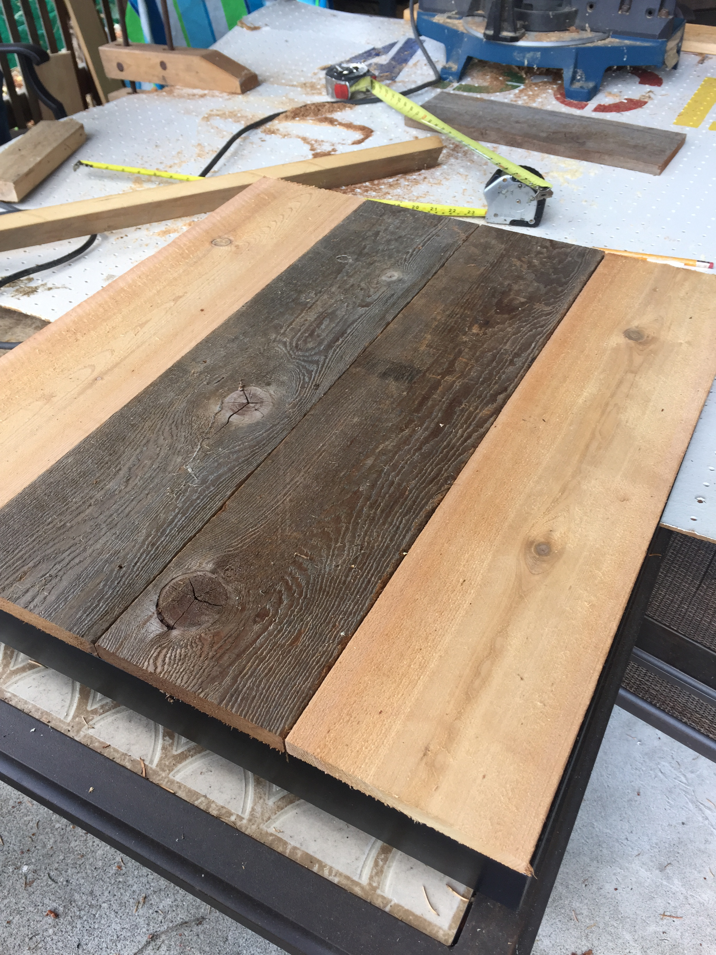 For This Project, I Found Two Boards From My Dadu0027s Wood Pile That My Dad  Identified As Fence Boards. They Measure 5.5 Inches Wide. I Used My Dadu0027s  Table Saw ...